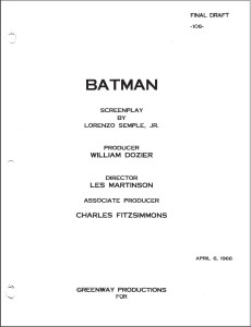 Lorenzo Semple Jr And The Batman Scripts Know It All Joe