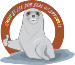 Know It All Joe Seal of Approval Pic