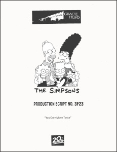 The Simpsons Script Cover