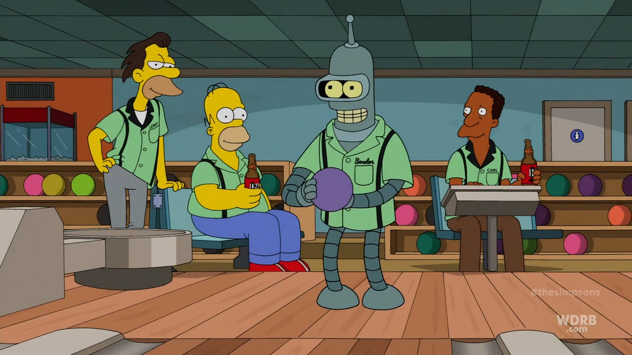 Tons Of Quot Simpsons Futurama Quot Crossover Screenshots With