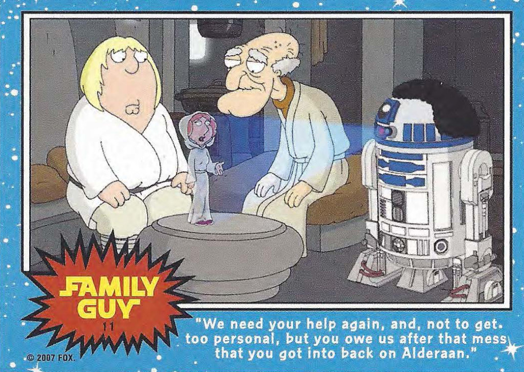 family guy star wars trading cards and art booklet