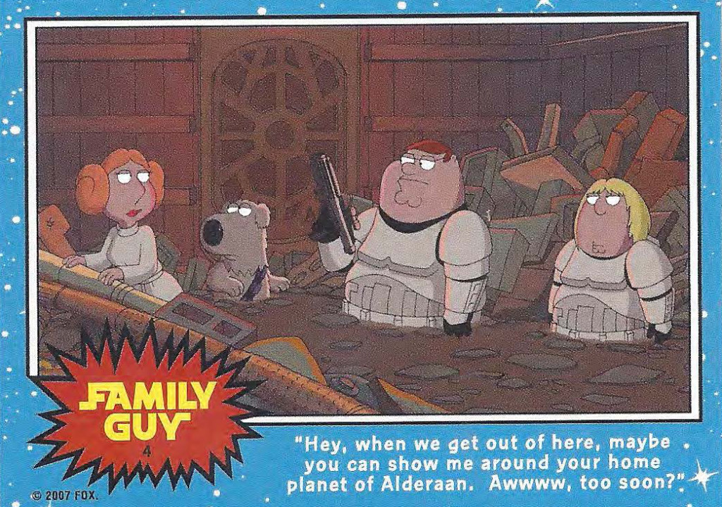 Family Guy Star Wars Trading Cards and Art Booklet (Downloadable ... Family Guy Blue Harvest Couch