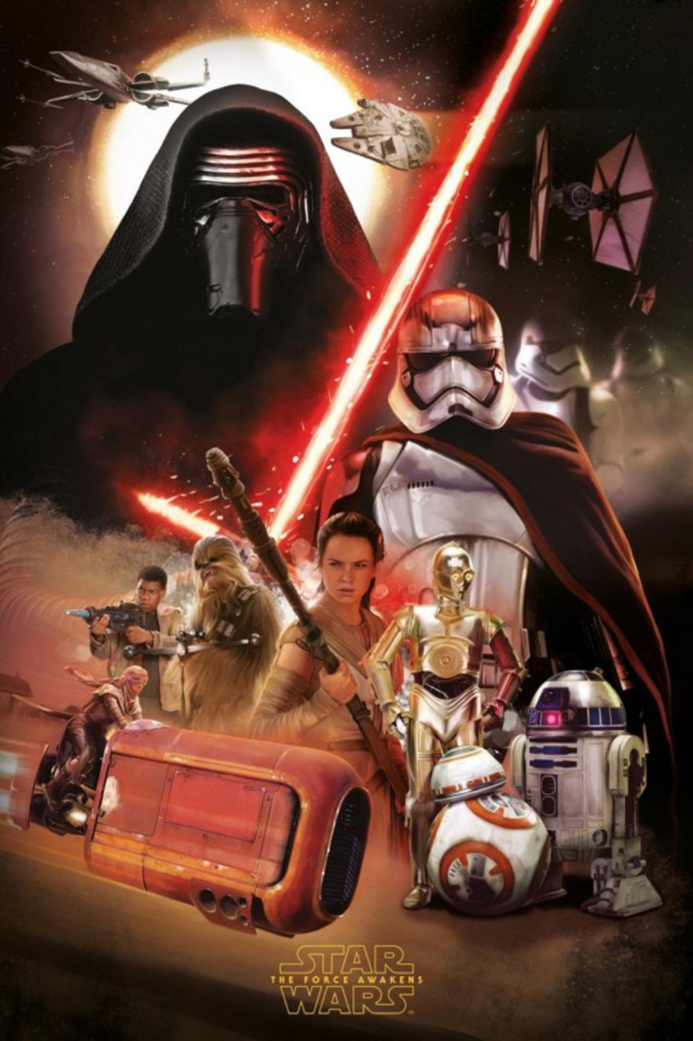 Star Wars The Force Awakens Promo Art Plus Opening