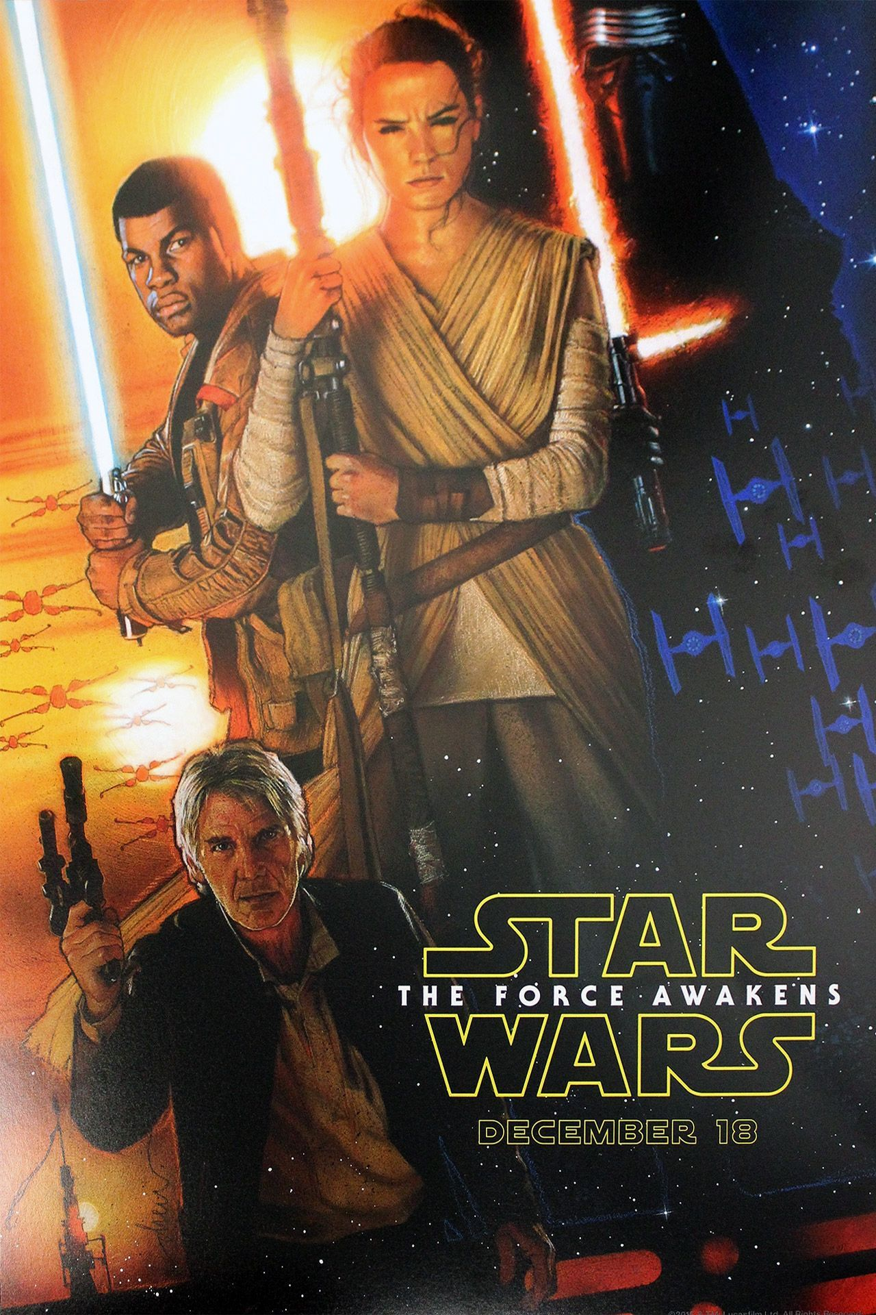 hey it 39 s the new star wars the force awakens poster. Black Bedroom Furniture Sets. Home Design Ideas