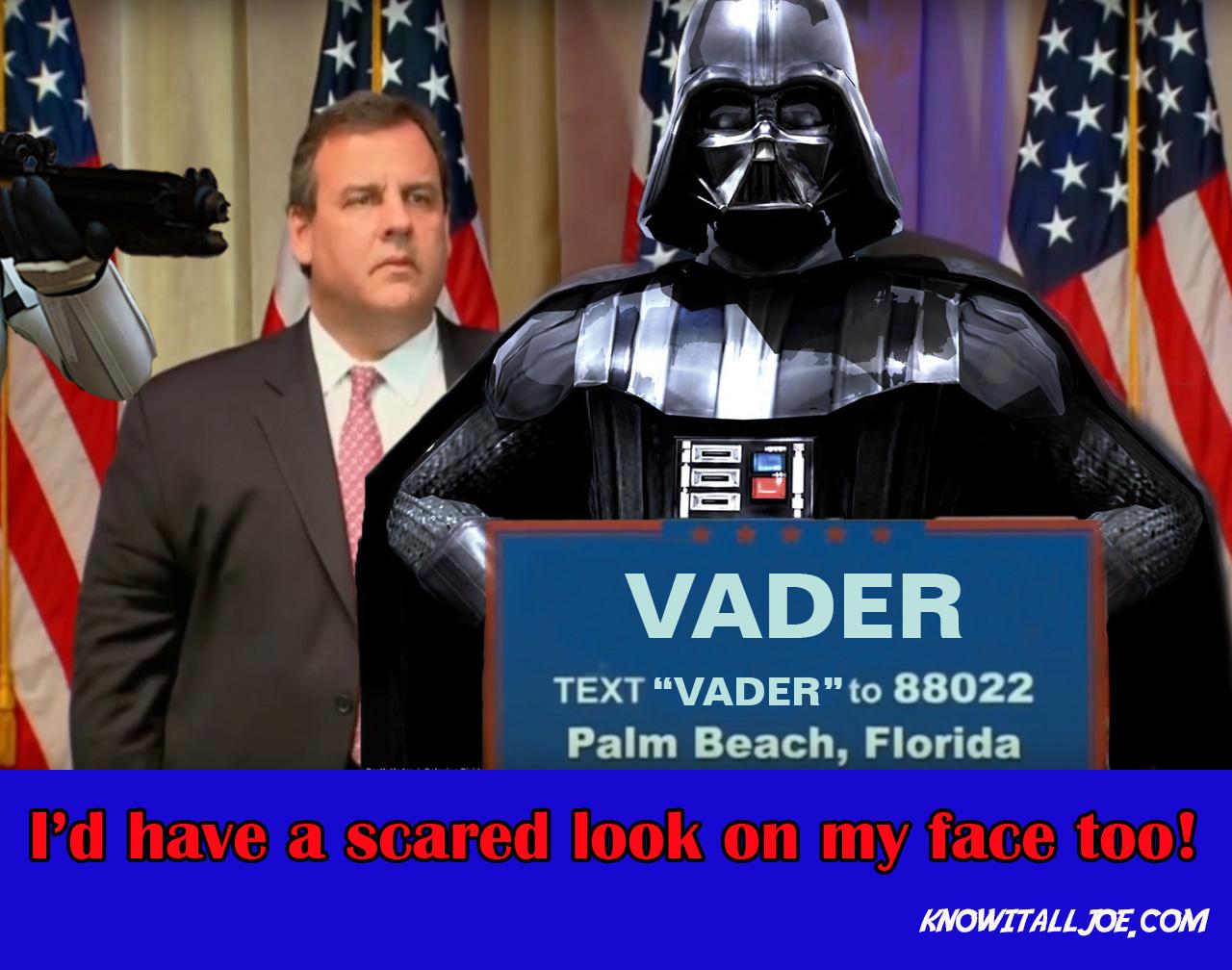 Darth Vader Chris Christie Meme