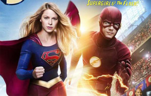 Flash Supergirl Crossover Poster Pic