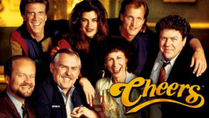 Cheers Cast Photo with Title