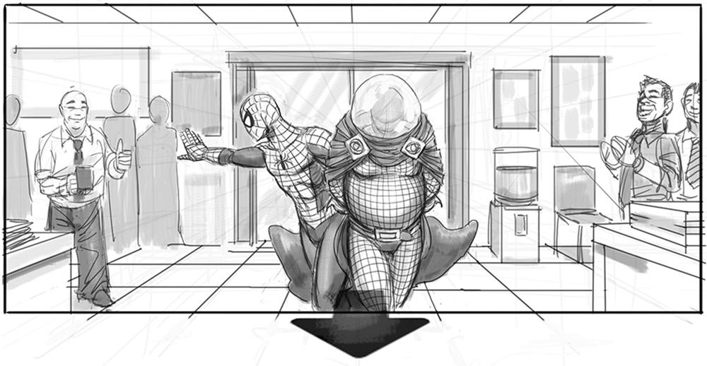 Spider-man 4 Storyboard 1